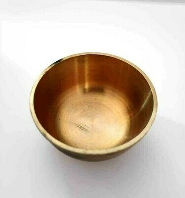 Brass Small Round Bowl Collectible Antique Handmade