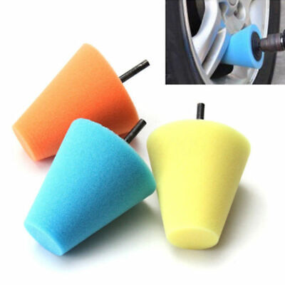 Durable Cone Shape Burnishing Foam Sponge Polishing Buffing Pads Car Wheel OS