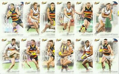 2019 afl select FOOTY STARS ADELAIDE CROWS COMMON BASE TEAM SET 12 CARDS