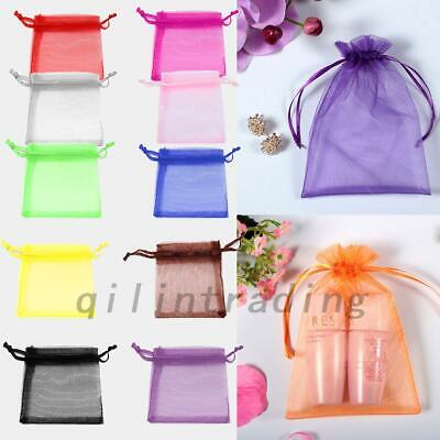 100x Gauze Organza Candy Gift Bag Jewelry Packing Pouch Wedding Party Favour