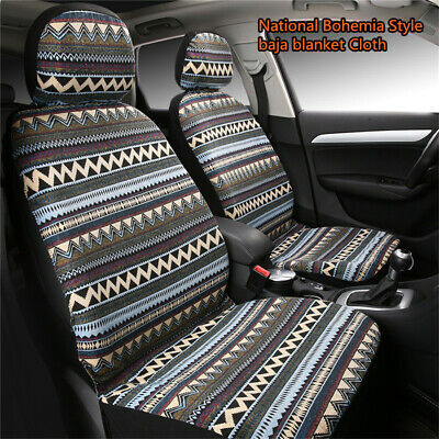 1Pair Front Seat Cover Baja Blanket Cloth Bohemia National Style Car Seats Cover