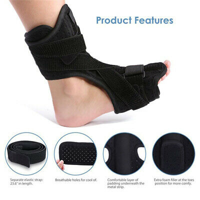 Adjustable Ankle Support Brace Fasciitis Foot Sprain Injury Wrap Splint Strap