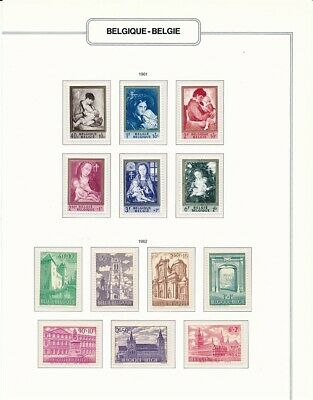 D247767 Belgium 1961-1962 Nice selection of MNH Stamps