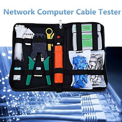 RJ45 RJ11 CAT5 Cable Analyzer Tester Kit Internet Network Cable Crimping Cutter