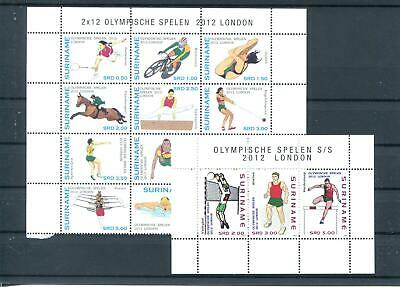 Suriname Mnh 2012 Olympic Games Sports 3113