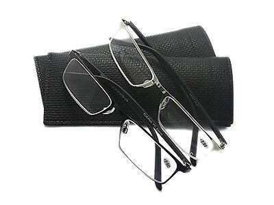 84b6c7d67373 MT101 High Quality Stainless Steel Frame Reading Glasses with Pouch  +1.5+2.0+2.5
