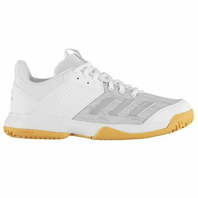 adidas Ligra 6 Trainers Girls White/Silver Shoes Footwear