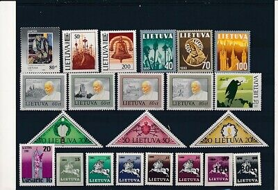 D247639 Lithuania Nice selection of MNH stamps
