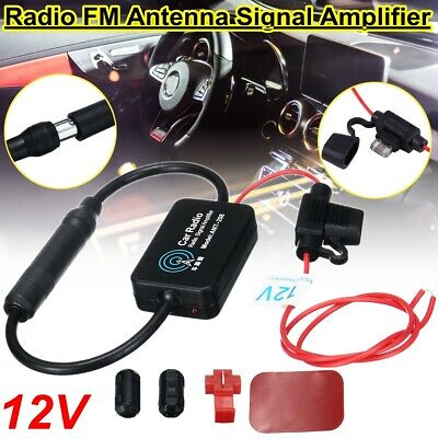 12V 25dB Universal Auto Car Radio FM Antenna Signal Amplifier Booster with Clip
