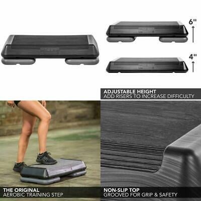 The Step Original Aerobic Platform workout Exercise Stepper equipment - 2 Risers