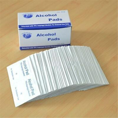 200Pcs Alcohol Swabs Pads Wipes Antiseptic Cleanser Cleaning For Home First Aid