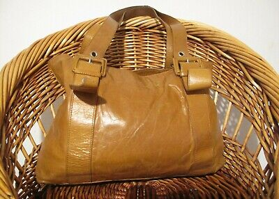 Tula by Radley caramel brown genuine leather shoulder bag