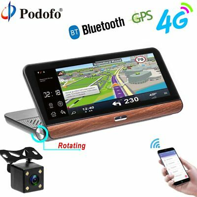Podofo Car DVR GPS Navigation Dashcam 7.84″ Android Dash Cam Bluetooth WIFI Touc