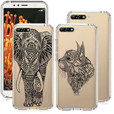 For Huawei Y6 2018 Animal Gel Case Cover Gelly Silicone Rubber Stylish Case