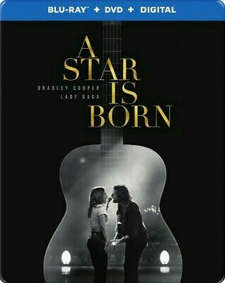 A STAR IS BORN (Blu-ray+DVD+Digital) STEELBOOK-BRAND NEW & SEALED-SHIPS TODAY!