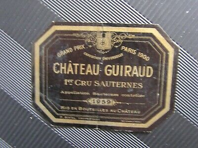 01 Etiquette Chateau Guiraud 1959 Decollee