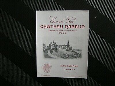 01 Etiquette Chateau Rabaud 1950 Negoce Wetterwald