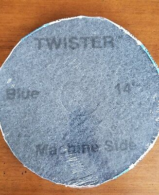 "NEW 14"" TWISTER PADS HTC CLEANING TECHNOLOGY (Blue 3000 GRIT) - 2 PACK!"