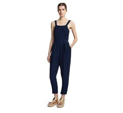 1ede2f77802b Whistles - Masie Waisted Jumpsuit - Blue Navy - New With Tag - Size 16 -