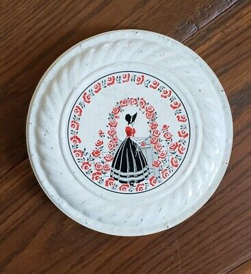 Antique Vintage Chimney Flue Stove Pipe Cap Cover Poppys Roses Maiden Red Black