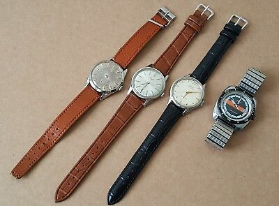 Job Lot Of Vintage Wrist Watches Omega Timex Longines Mido Spares/ Repairs