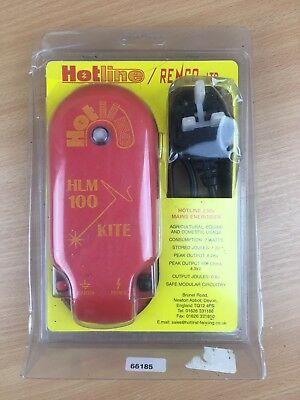 Hotline Mains Powered Electric Fence Energiser Power pack Horse/Equine/Sheep