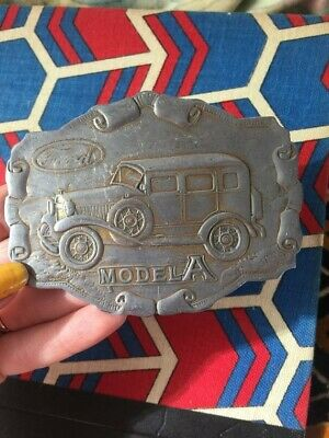 1960s Vintage Early Ford Belt Buckle, Genuine Ford, Hot Rod, Street Rod, Model A