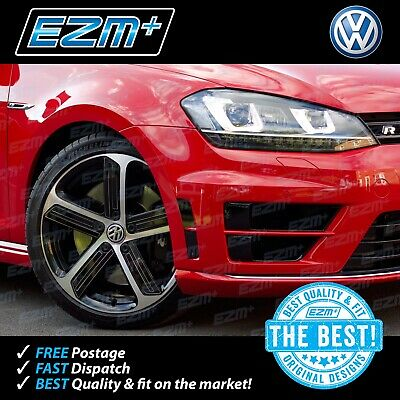 EZM VW Golf R 7 MK7 Bumper Vent Insert Indent Stickers Decals GLOSS BLACK