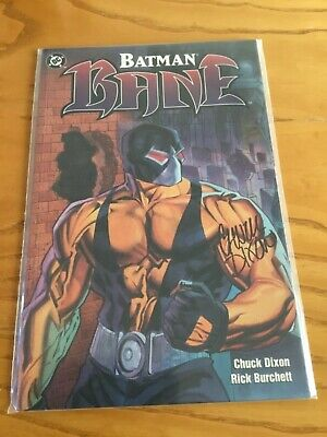 Batman:bane. Signed By Chuck Dixon.  Df Coa.