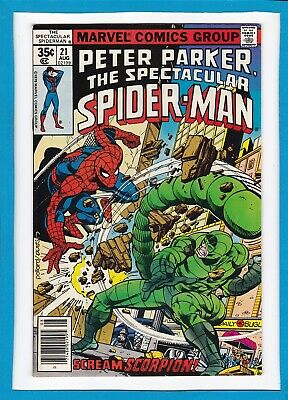 Peter Parker, The Spectacular Spider-Man #21_Aug 1978_Vf+_Scorpion_Bronze Age!