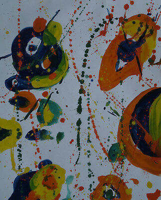 Modernism Abstract Expressionism unique original  acrylic composition painting