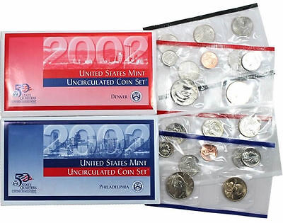 2002 P & D US Mint Uncirculated Coin Set
