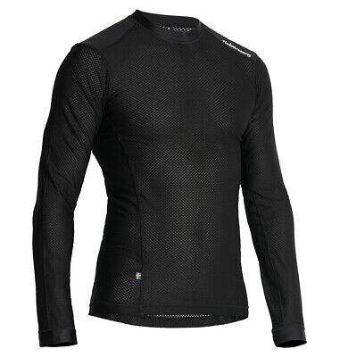 Halvarssons Mesh Sweater Polyester Base Layer Top - Black