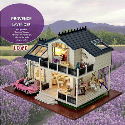 Provence Dollhouse Miniature DIY House Kit Creative Room With Furniture and Cove