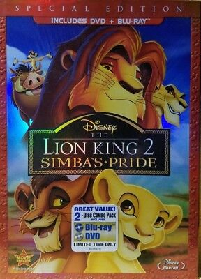 The Lion King II: Simba's Pride (Blu-ray/DVD, 2012, 2-Disc Set) EXCELLENT / MINT