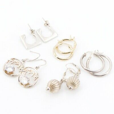 VTG Sterling Silver - Lot of 5 Assorted Earring Pairs NOT SCRAP - 15.5g