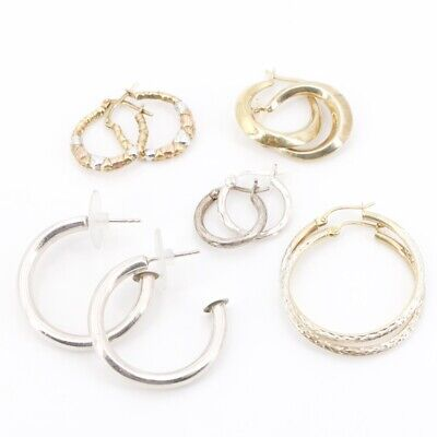 VTG Sterling Silver - Lot of 5 Assorted Earring Pairs NOT SCRAP - 13.5g
