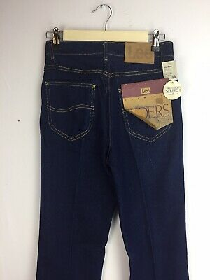 Vtg Lee Riders Trim Fit Boot Cut Dark Indigo 27x35 1/2 Jeans Pants