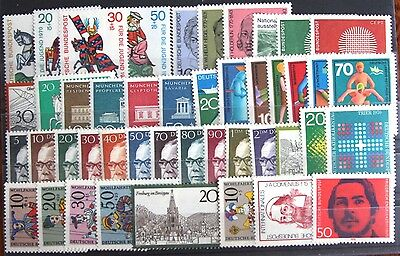 Germany Complete Year 1970 Stamp Set Mint Never Hinged MNH German Stamps