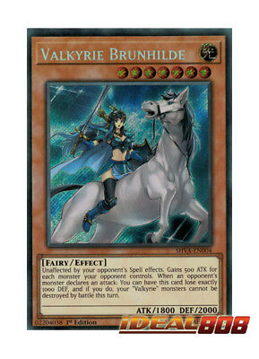 YUGIOH x 1 Valkyrie Brunhilde - SHVA-EN004 - Secret Rare - 1st Edition Near Mint