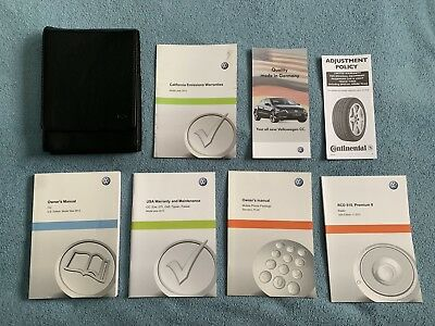 2013 VW CC Owners Manual Set + VW Foldable Case-Fast Free Shipping!