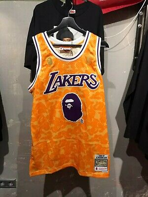 f839da2ded1 A BATHING APE X Mitchell & Ness Los Angeles Lakers BAPE NBA Jersey