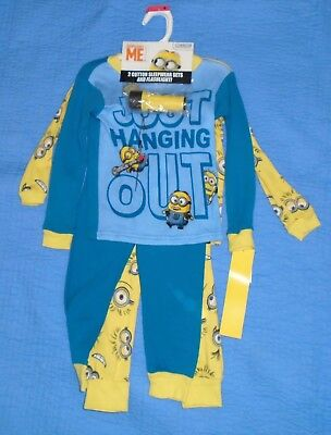 3cc6da4aafa219 Despicable Me Nwt! Boys Pajamas 2 Cotton Sleepwear Set Size 4 Flashlight