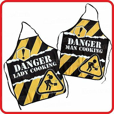 Apron-Attitude Funny-Danger! Man Lady Cooking-Party-Bbq-Barbecue-Kitchen-Costume