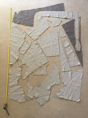 Leather Offcuts, Remnants, Leather Craft, Full grain cowhide (Lot T) Approx 1kg