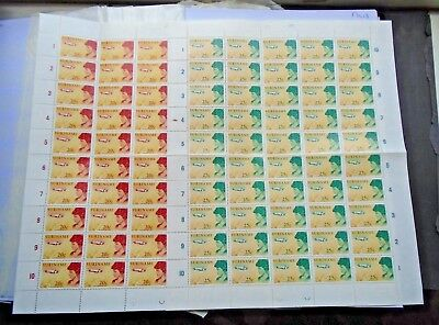 Airmail 20C 25C In Complete Sheets Of 50 Sets Vf Mnh Suriname V7.12