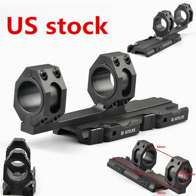 US 25mm-30mm Ring Scope Mount QD Lock 20mm Rail 4 Rifle Hunt Picatinny