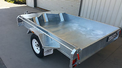 Motorbike Trailer, Motorcycle trailer, 7x5 Galvanised Trailer, Heavy Duty, NEW