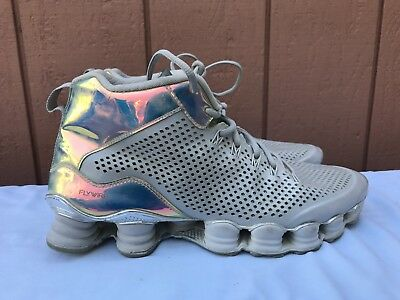 best website ad4ad cf1ba EUC NIKE Shox TLX Mid SP Men s 10.5 Dusty Grey Reflect Silver Chrome 677737-