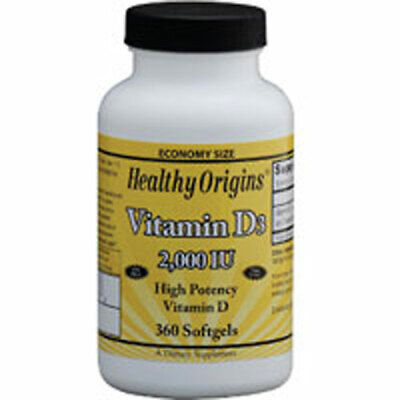 Vitamina D3 360 Capsule Morbide da Healthy Origins